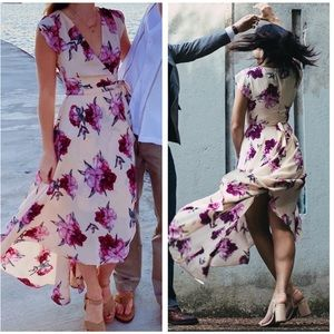 Lulus French Countryside Blush Floral Dress